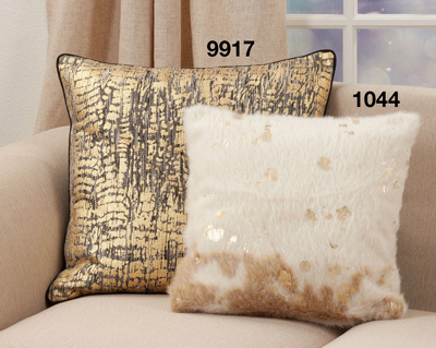 1044 Foil Print Faux Cow Hide Pillow