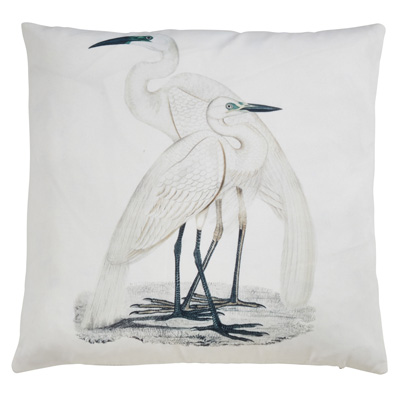 1818 Great White Egrets Outdoor Pillow