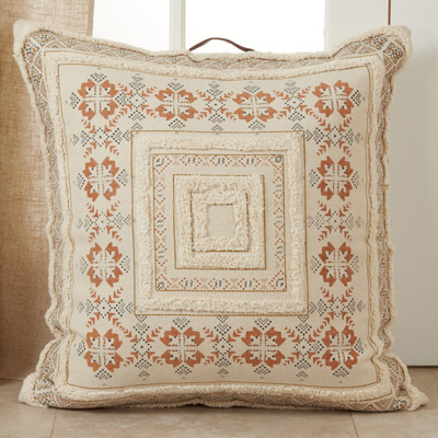 195 Printed + Tufted Floor Pillow