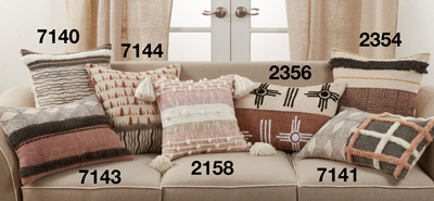 2354 Printed + Embroidered Pillow