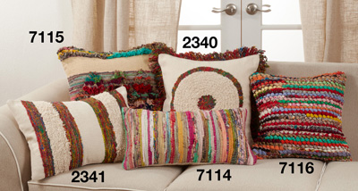 7116 Multi-Colored Chindi Pillow