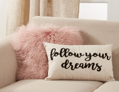 6275 Follow Your Dreams Embroidered Pillow