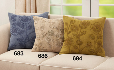 684 Stone Washed Floral Pillow
