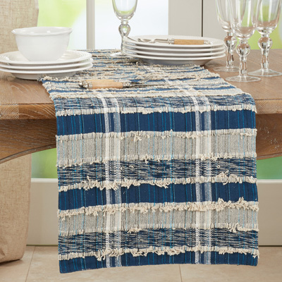 858 Striped Woven Runner