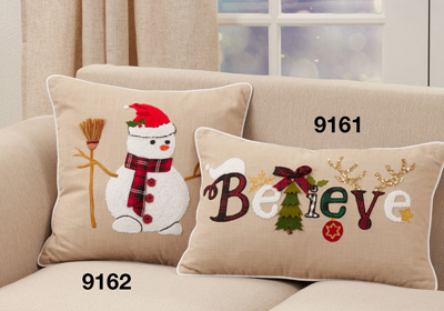 9161 Believe Christmas Pillow