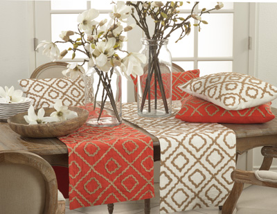 0090 jute embroidered design runner