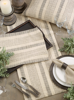 1024 Striped Woven Placemat
