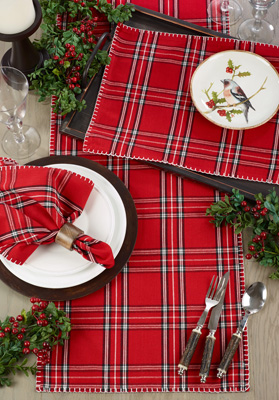 1114 Plaid Whipstitch Placemat