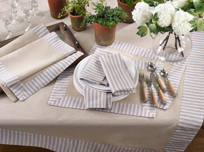 1746 striped border design tablecloth