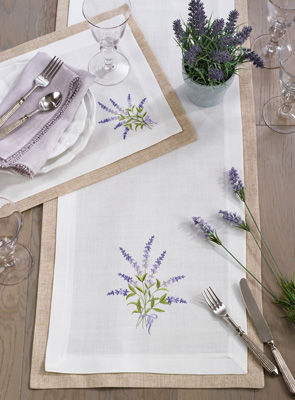 1984 Double Layer Lavender Placemat
