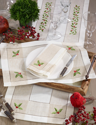2237 Embroidered Holy Hemstitch Placemat