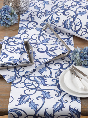 226 printed leaf and vine placemat