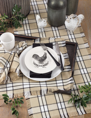 2853 plaid placemat