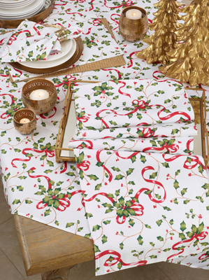 3175 Holly And Ribbon Placemat