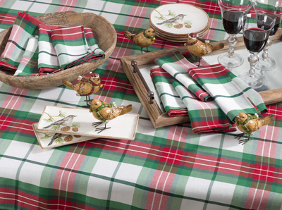 5002 plaid design holiday tablecloth