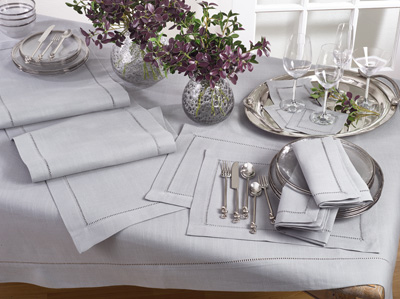 6302 tablecloth with hemstitched border