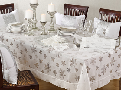 8000 evening snowflake tablecloths