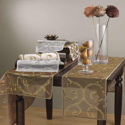 BD330 beaded tablecloths