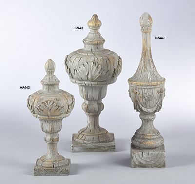 HA443 Antique Finial
