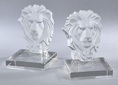HA917 crystal bookend, set of 2
