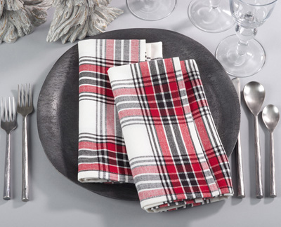 8053 plaid napkin