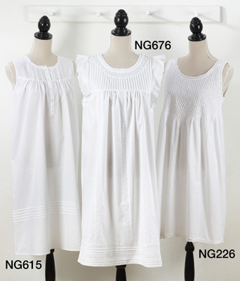 NG615 embroidered nightgown