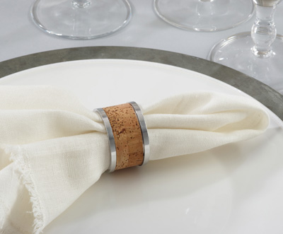 NR141 cork napkin ring