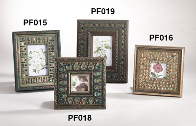 PF016 studded design metal photo frames
