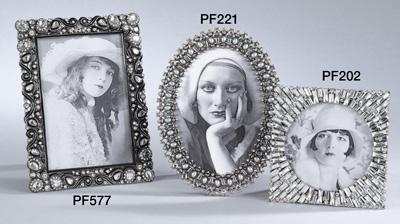 PF577 bejeweled photo frame