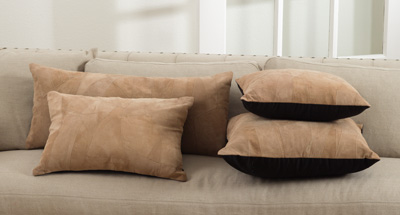 072 classic leather pillows