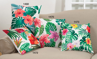 1468 printed flower pillow