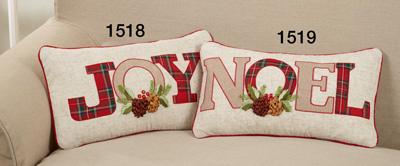 1519 plaid noel pillow