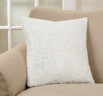 1711 foil print faux fur pillow