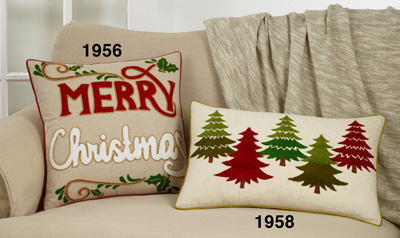 1956 Merry Christmas Pillow