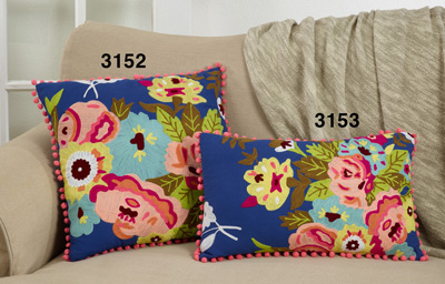 3153 Embroidered Flower Pillow