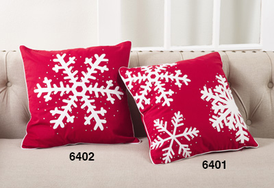 6401 studded snowflake pillow