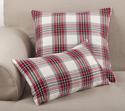 8053P plaid pillow