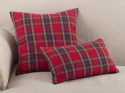 8054P plaid pillow