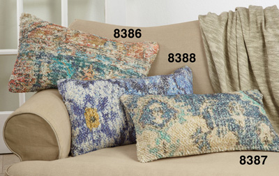 8388 Distressed Rug Pillow