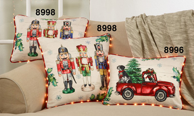 8998 Nutcracker Pillow With Led Piping