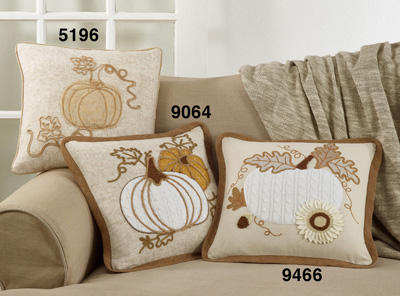 9064 Appliqué Knit Pumpkin Pillow