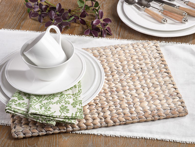 1406 woven water hyacinth placemat