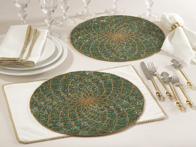 152 beaded design placemats