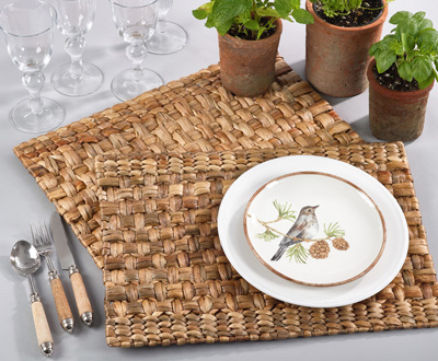 1732 woven water hyacinth placemat