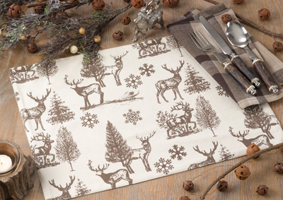 4078 reindeer and tree placemat
