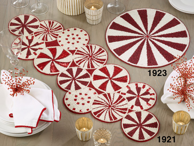 1923 Beaded Candy Cane Placemat