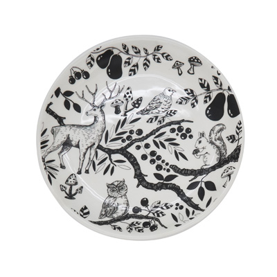 SE420 Woodland Critters Salad Plate