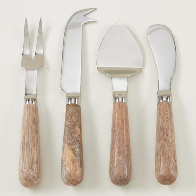 Sp226 Wood Cheese Cutlery