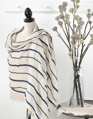 S121 striped scarf