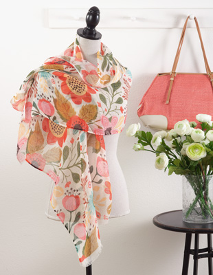 S306 floral scarf
